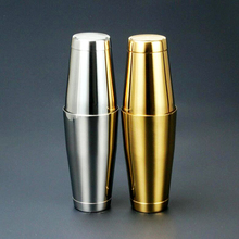 Stainless Steel Gold Cocktail Shaker Bar Tools Shaking Snow Manual Vacuum Wine Stopper Wine Filter Jigger  Enfriador Vino J142
