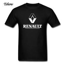 Renault Logo Tee Shirt Men 100% Cotton Short Sleeve Plus Size Renault T Shirts F1 Team For Adult Club XS-XXXL T-Shirt Clothes