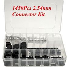 1450pcs/set Wire Cable Housing Connector Kit Male Crimp Pins+Female Pin Connector Terminal Pitch With Box 2.54mm