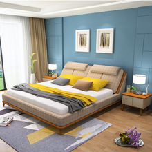 main bedroom furniture Modern simple bed  double bed 1.8 m washable soft bed