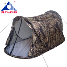 Playking camouflage 3 color to choose 1-2 person pop up automatic waterproof silver coated camping tent(China)