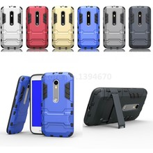 Luxury slim Defender Armor 2 In 1 protective Case For Motorola MOTO G3 G 3nd Gen Cell Phone Case Back Cover with Stand holder