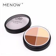 Menow 4 Colors Brand Makeup Face Concealer Cream Long Lasting Waterproof Camouflage Concealer Palette CosmeticsC14002(China)
