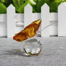 Crystal Glass Animal Butterfly Figurines Art & Collection Craft Wedding Festive Party Table Decoration favors and gifts souvenir