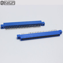 30pcs/Lot 44P 805 Card Edge Connector 3.96mm Pitch 2x22 Row 44 Pin PCB Slot Solder Socket SP44 Dip Wire Solder Type