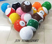 High quality!18cm diameter 7'' Giant Inflatable Snooker Soccer Ball in Snookball Game,Huge Billiards Ball(Air Pump+16 pcs Soccer