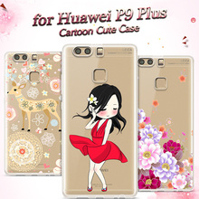 Telephone Case for Huawei P9 Plus Case Cartoon 5.5 inch Original Ultrathin Silicon Soft TPU for Huawei P9 Plus Cover P9 Plus Gel