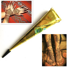 1PC No-Toxic Body Painting Natural Brown Henna Paste Mehndi Cone Women Body Art Sexy Girl Drawing Tribal Temporary Flash Tattoo(China)