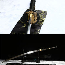 Handmade Clay tempered differential hardened japanese katana sword real hamon.