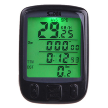 Buy ZK20 Sunding SD 563B Bike Bicycle Computer Waterproof LCD Display Cycling Mixsight Odometer Speedometer Green Backlight Cycling for $4.98 in AliExpress store