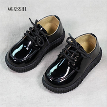 QGXSSHI boys genuine leather shoes baby Bright skin kids shoes loafers sneakers children girls boys School performance shoes(China)