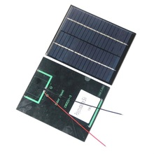 BUHESHUI Min Solar Cell 2W 18V Polycrystalline Solar Panel+Cabl/ Wire  For 12V Battery Charger System DIY Solar Module Education