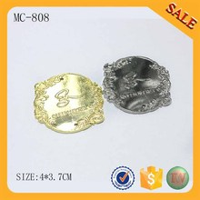 MC808 Personalized Engraved Metal Gold Labels Name Plate Art Tag for garment