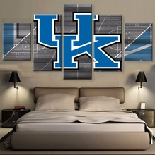 5 Pieces/Set KENTUCKY WILDCATS On Canvas Sport Painting Unique Wall Art Modern Abstract Art Deco Hand Painted Picture Painting(China)