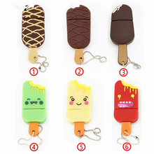 Cool chocolate ice cream usb flash drive pen drive pendrive 4GB 8GB 16GB 32GB flash u stick disk real capacity USB2.0(China)