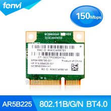 Atheros AR5B225 150Mbps Wireless-N Wifi Bluetooth BT 4.0 Half Mini PCI-E Wlan Card for HP DV6 DV7 G4 G6 G7 655795-001 654825-001