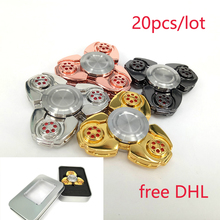 20PCS/lot Triangle Alloy Decompression EDC Hand Spinner CKF Anti Reduce Stress Fidget Toy For ADD ADHD Anxiety Boring Annoying