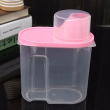 Pink 1.9L Plastic Kitchen Food Cereal Grain Bean Rice Storage Container Box Case Brand New