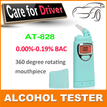 Free shipping patent China new Digital alcohol tester with red backlights, Digital Alcohol Breath Tester Breathalyzer AT828