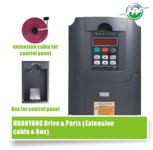 HUANYANG VFD Drive 4.0KW 380V spindle inverter frequency converter &Optional parts (extension cable + box) FACTORY DIRECT SALES