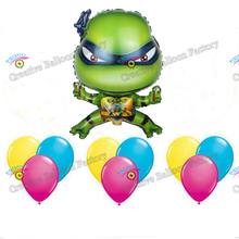 Wholesale 10pcs/lot Teenage Mutant Ninja Turtles Balloon Birthday Party Decorations Toys For Kids Aluminum Foil Latex Balloons