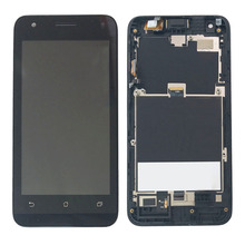 Black LCD Display Glass Touch Screen Digitizer Assembly+Frame For Asus Zenfone C ZC451CG NEW