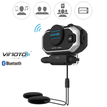 2017 Easy Rider vimoto V8 850mAh Helmet Bluetooth Headset Motorcycle Stereo Headphones For Mobile Phone and GPS Way Radios(China)