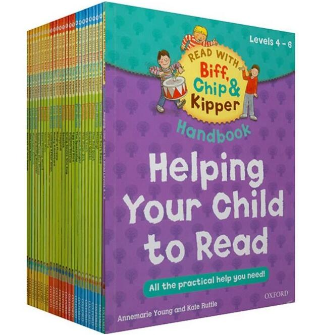 1 set 25 books 4-6 level Oxford reading tree READ WITH Biff,Chip&Kipper Helping Child to read practical English(China)