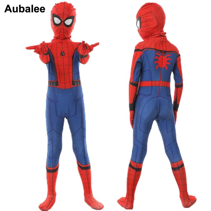 spiderman costume kids Halloween Child superhero Cosplay Bodysuit Zentai boys