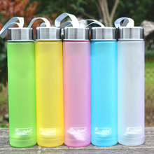 Muti Colors Portable Bike Sports Travel Unbreakable Plastic Water Bottle Cycling Camping Bottle