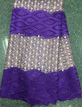 High quality nigerian lace fabric African French net lace with stones high quality for wedding dress,5yards a piece.HTL1102(1)