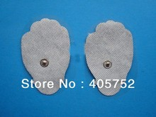free ship 20pcs good quality white Electrode Pads for Tens Acupuncture, massager+1pc DC 2.5MM 2 in 1 Head electrode wires /cable(China)