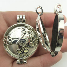 Free shipping Dull Silver Sunflower Heart Web Butterfly Wheel Peace Perfume Diffuser Locket