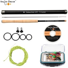 12 / 13FT Tenkara Fly Rod Combo Telescoping Fishing Pole Carbon Fiber Fly Fishing Rod & Furl Leader Flouorocabon Tippet