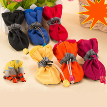 6 Sizes 4 pcs/set Fashionable Dog Shoes Dog Cat Rain Protective Boots Waterproof Puppy Pet Anti-Slip Shoes Booties Random Color(China)