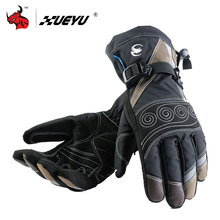 XUEYU Winter Windproof Waterproof Motorcycle Gloves Motorcross Riding Gloves Snowboard Skiing Warm Gloves Luvas Da Motocicleta(China)