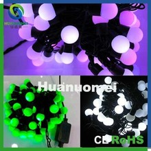 waterproof holiday lights 5m 50pcs balls led twinkle ball light string for Xmas, Black wire