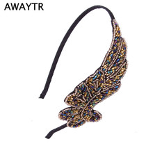 AWAYTR 2017 Hair Accessories for Women Fashion Lady Girl Vintage Flower Braided Hairband Plaited  Hair Jewelry
