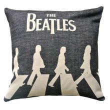 The Beatles Zebra Crosssing Abbey Road Cushion Cover UK Rock Throw Pillow Covers Linen Black White Pillow Sham Custom Gift Decor(China)