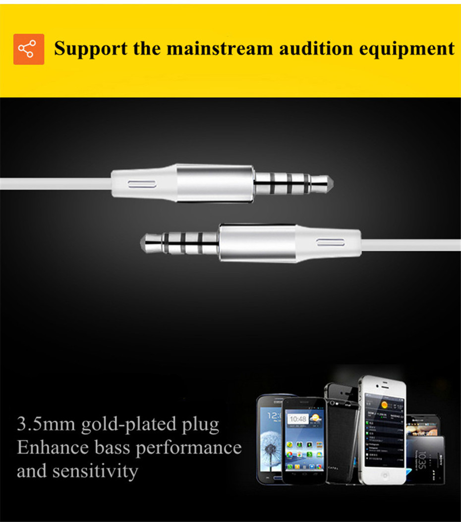 ME30 Metal Earphones Sports Noise Cancelling Headphones for Phone Stereo Headset with Mic for Xiaomi Computer iPHone (7)