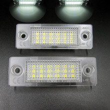 2x White 18 LED 3528 SMD Number License Plate Lights Lamp for VW Passat B5 Caddy T5 Free Shipping(China)