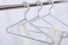 Clear Transparent Acrylic Plastic Beads Clothes Hanger Coat Hanger T-shirt Hangers for Adult