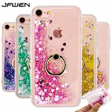 Buy JFWEN iphone 8 Case Silicon Soft TPU Transparent Liquid Phone Case iphone 8 7 6 6S Plus Case Cover Back Ring Holder for $2.98 in AliExpress store