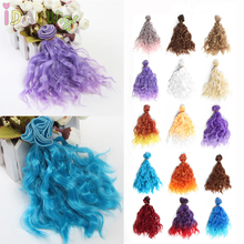 5pc/lot,15*100cm Water Wavy Doll Hair Extensions for Sewing BJD/SD/Bly the/Pullip Wigs Colors Pieces for Choice