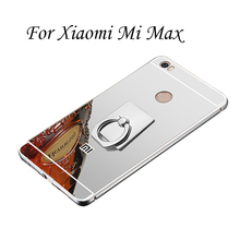 Gold Plating Case For Xiaomi Mi Max Aluminum Metal Bumper Frame With Mirror Acrylic Back Cover For MiMax(China)