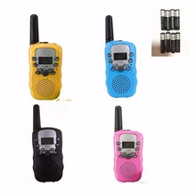 2pcs T-388 Walkie Talkie Kids Two way Radio  UHF  Frequency Portable Transceiver Ham Amateur Children Radio Christmas gift Toy