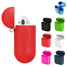 Besegad Silicone Wireless Earphone Headphone Carrying Case Cover Skin Sleeve Pouch Box Protector for Apple Airpods Air Pods(China)