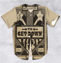 6 Styles Real American Size The get down 3D Sublimation Print Custom made Button up baseball jersey plus size