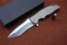 NEW Matsuda male KM-610 SUBARU tactical knife D2 blade TC4 titanium handle outdoor camping hunting pocket fruit knife EDC tools