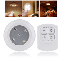 9.5cm/ 3.7inch  Wireless Remote Control LED Puck Lights for Cabinets Closets and Any Dark Space For Hallway Pathway Light